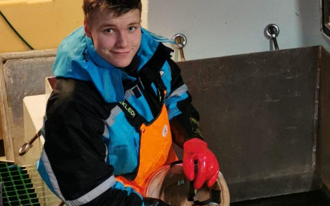 Kevin Andre(18) har læretida på tre båter